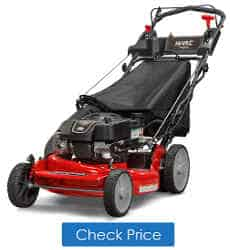 best push lawnmower 2019 Snapper P2185020E / 7800982 HI VAC 190cc 3-N-1 Rear Wheel Drive Variable Speed Self Propelled Lawn Mower with 21-Inch Deck and ReadyStart System and 7 Position Heigh-of-Cut - Electric Start Option