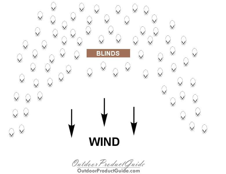 Snow-Goose-Spread-Diagram-U-Shape